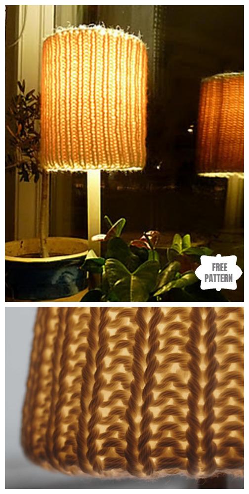 Knit Grandma Lamp Shade Free Knitting Pattern