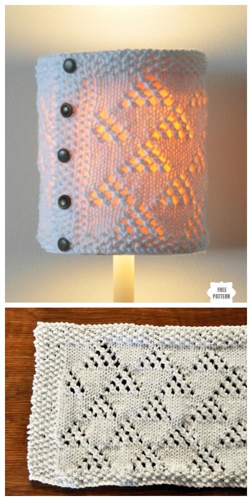 Knit Cozy Lamp Shade Free Knitting Pattern