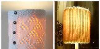 Knit Cozy Lamp Shade Free Knitting Patterns