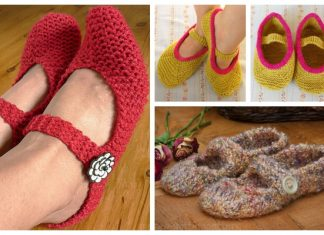 Knit Adult Mary Jane Slippers Free Knitting Patterns
