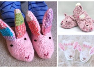 Knit Baby Bunny Slippers Free Knitting Patterns