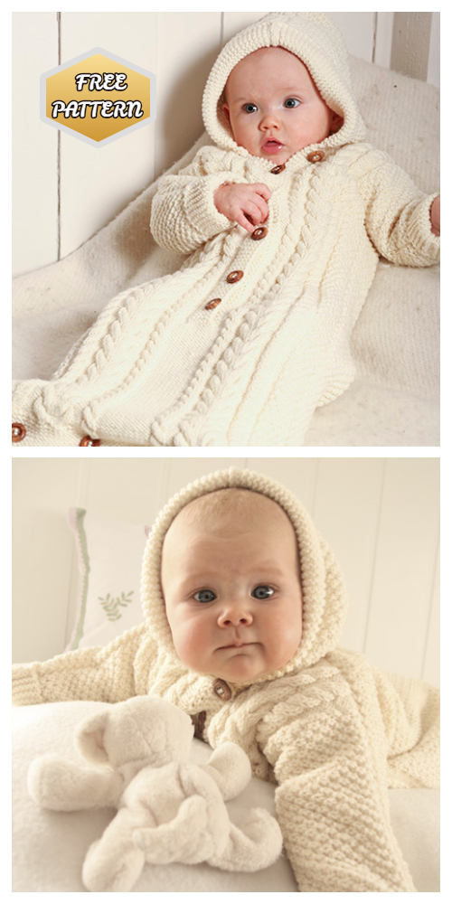Knit Snuggly Bunny Baby Bunting Coat Free Knitting Patterns