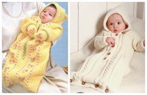 Knit Baby Bunting Coat Free Knitting Patterns