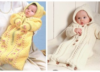 Knit Baby Bunting Coat Free Knitting Patterns
