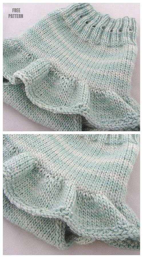Knit Baby Skirty Soaker Free Knitting Pattern
