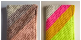 Knit Colorful Corner Blanket Free Knitting Pattern