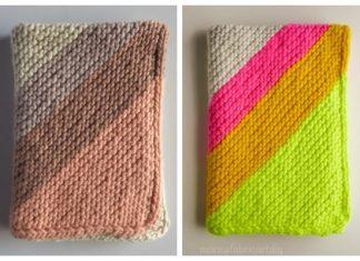 Knit Colorful Corner Blanket Free Knitting Pattern
