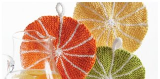 Knit Fruit Citrus Slice Dishcloth Free Knitting Patterns