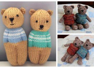 Knit Little Toy Teddy Bear Free Knitting Patterns