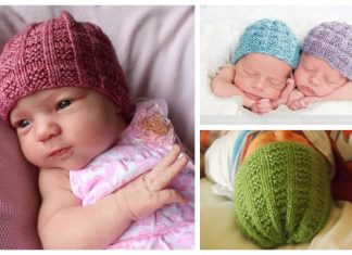 Knit Seventh Baby Beanie Hat Free Knitting Pattern