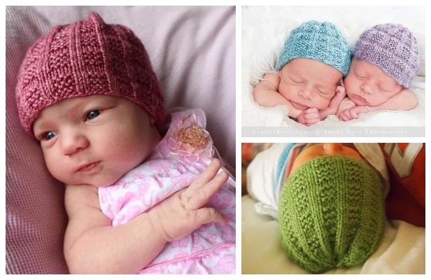 Knit Seventh Baby Beanie Hat Free Knitting Pattern