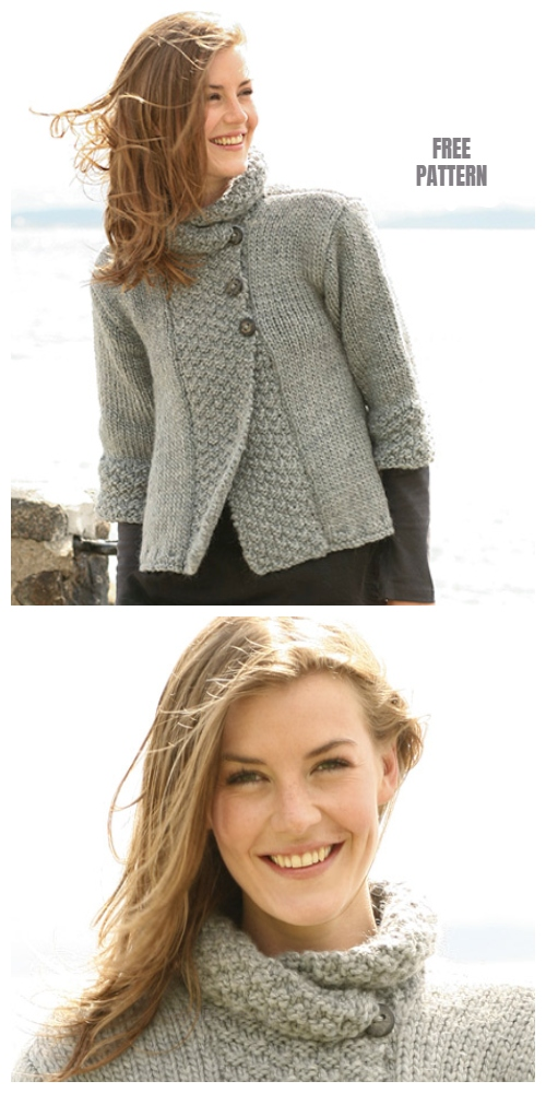 Silver Haze Jacket Free Knitting Pattern