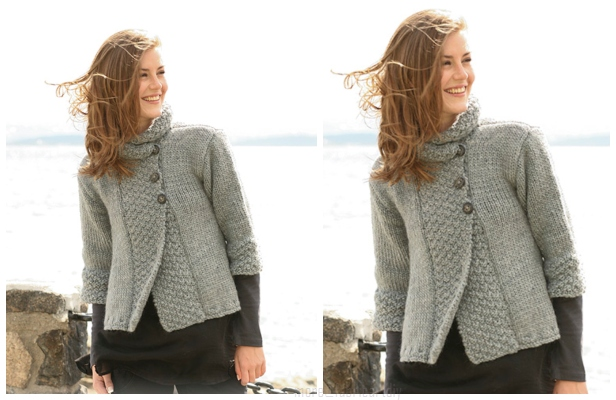 Silver Haze Jacket Free Knitting Pattern