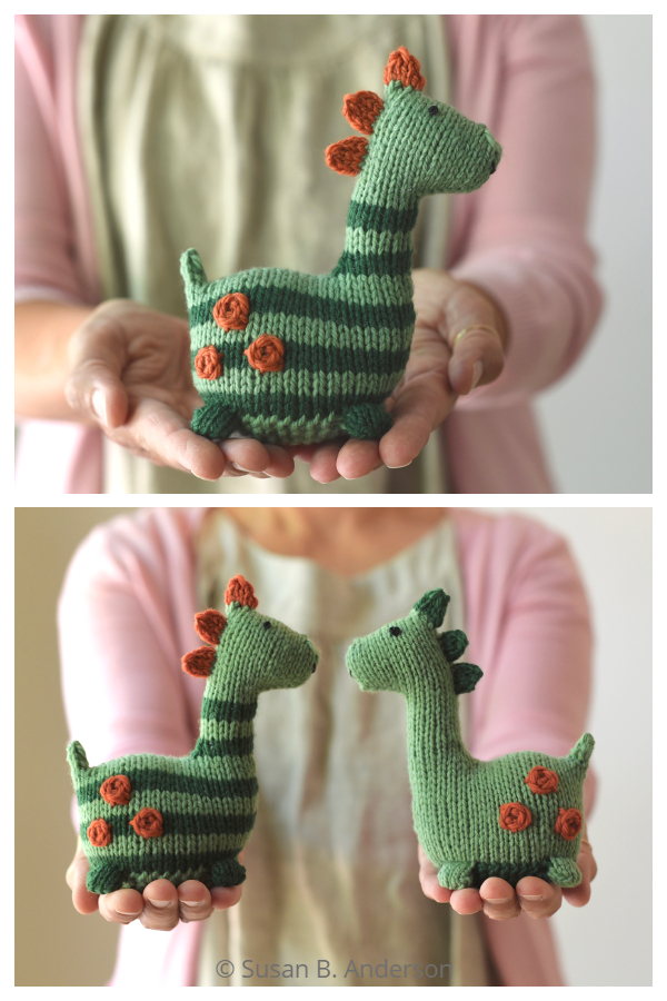 Amigurumi Toy Little Dinosaur Knitting Patterns