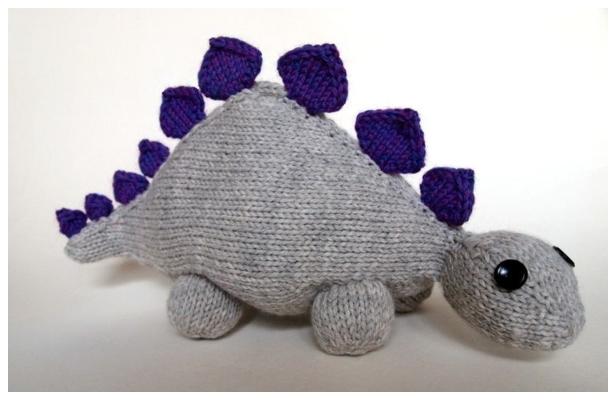 Knit Toy Dinosaur Free Knitting Pattern