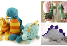 Knit Toy Dinosaur Free Knitting Patterns & Paid