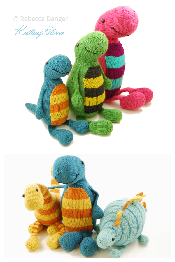 Knit Toy Dinosaur Terence the Tap Dancing T-Rex Knitting Patterns
