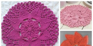 Knit Zinnia Dishcloth Free Knitting Pattern