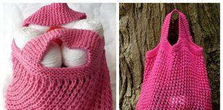 Let's Go Shopping Market Bag Free Knitting Pattern