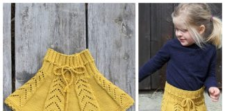 Knit Sunny Hug Girl's Skirt Free Knitting Pattern