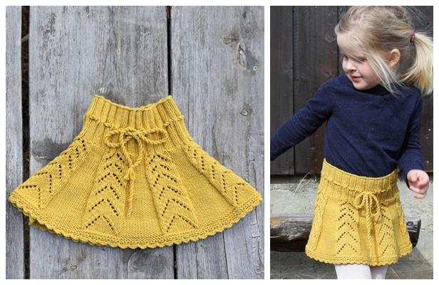 Knit Sunny Hug Girl's Skirt Free Knitting Pattern