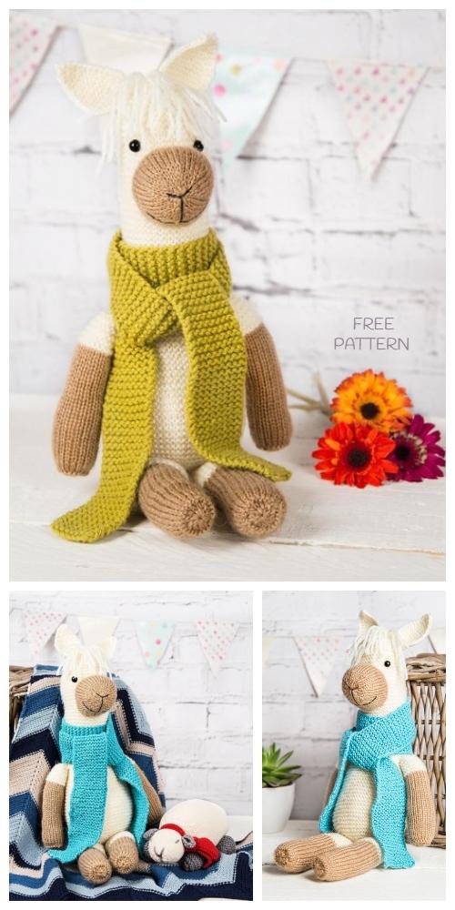 Toy Pax the Alpaca Free Knitting Pattern