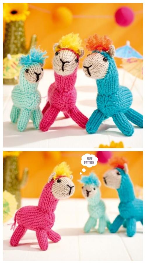 Toy Alpaca Family Free Knitting Pattern