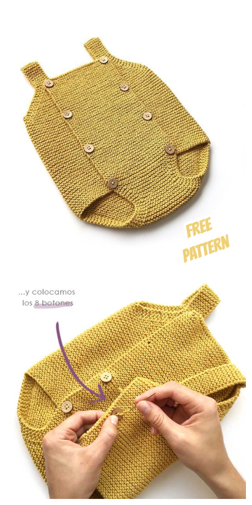 Knit Baby Romper Free Knitting Patterns