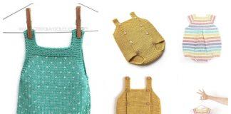 Knit Baby Romper Free Knitting Patterns