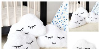 Knit Clouds Pillow Free Knitting Pattern