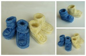 Knit Hodge Baby Booties Free Knitting Pattern