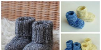 Knit Easy Baby Booties Free Knitting Patterns