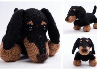 Knit Toy Stanley the Dachshund Dog Free Knitting Pattern