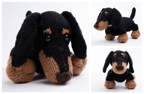 Knit Toy Stanley The Dachshund Dog Free Knitting Pattern