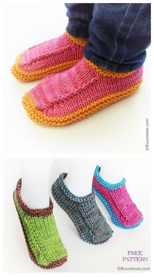 Knit Biscotte Slippers Free Knitting Patterns
