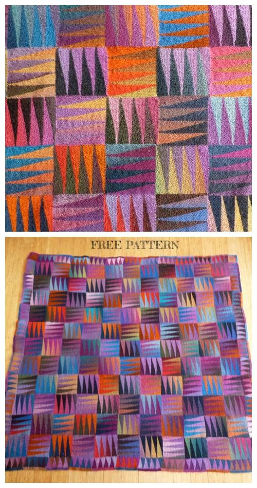 Knit Happy Blanket Free Knitting Pattern
