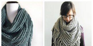 Knit Lace Triangle Shawl Free Knitting Pattern