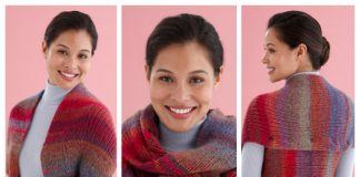 Knit Snapped Convertible Cowl/Shrug Free Knitting Pattern