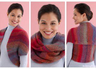 Knit Snapped Convertible Cowl/Shrug Free Knitting Pattern