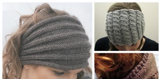 Knit Button Back Headband Free Knitting Patterns