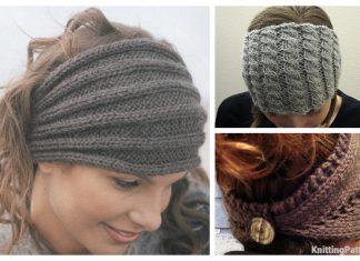 Knit Button Back Headband Free Knitting Patterns
