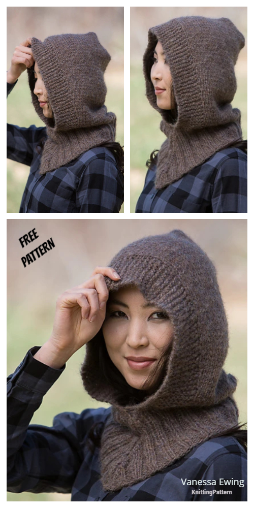 Easy Knit Hooded Neckwarmer Free Knitting Pattern