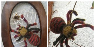 Halloween Knit Toy Spider Free Knitting Pattern