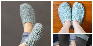 Knit Adult Cloud Slippers Free Knitting Pattern