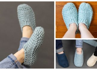 Knit Adult Cloud Slippers Free Knitting Pattern