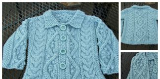 Knit Baby Cable Cardigan Free Knitting Patterns