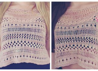 Knit Boxy Lace Top Free Knitting Pattern & Paid