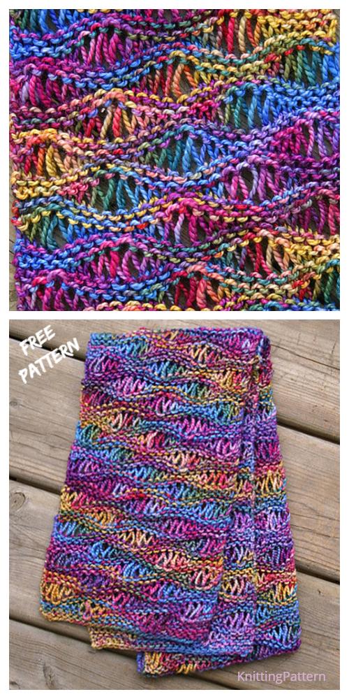 Knit Drop Stitch Scarf Free Knitting Pattern