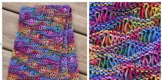 Knit Drop Stitch Scarf Free Knitting Pattern