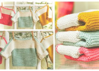 Knit French Macaroon Pullover Sweater Free Knitting Pattern